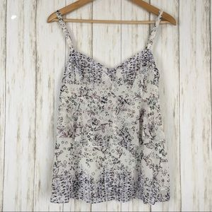 Cabi On The Clock Tiered Print Cami